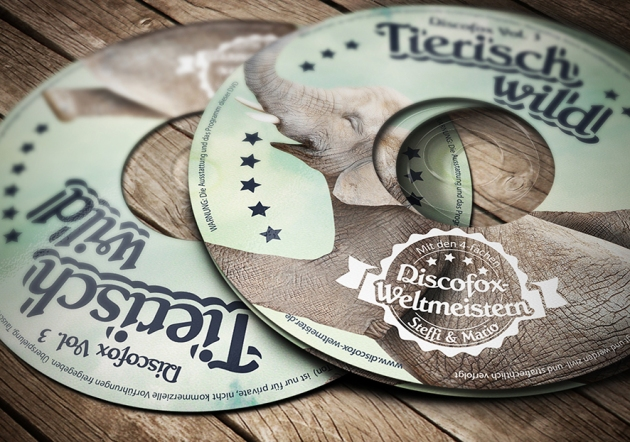 Mockup DVD Label 150 dpi